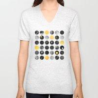 Dots / Yellow & Black Unisex V-Neck