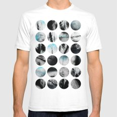 Circle Poetry / 1 Mens Fitted Tee White SMALL