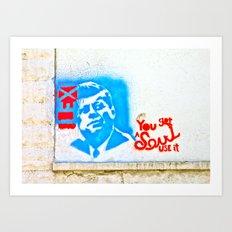 J.F.K. Street Art Art Print