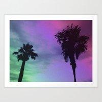 High Palms Art Print