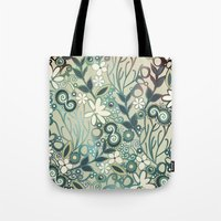 Detailed Square Of Green… Tote Bag