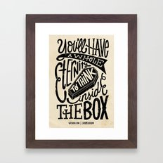 Inside The Box -Jay Roeder version- Framed Art Print