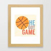 He Got Game Framed Art Print