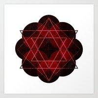 Lotus Flower Demon Versi… Art Print