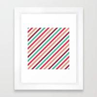 Striped. Framed Art Print