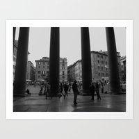 view from the pantheon Art Print
