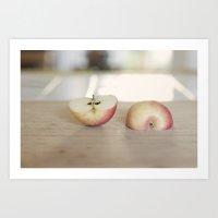 apple juice  Art Print
