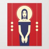 Phaedra Red Canvas Print