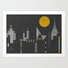City scape horizontal print Art Print