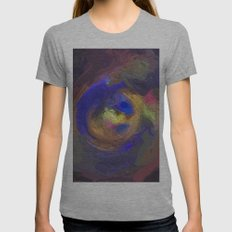 Abstract Mandala 81 Womens Fitted Tee Athletic Grey SMALL