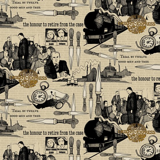Murder on the Orient Express (Agatha Christie) Toile de Jouy Art Print