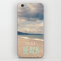 LIFE IS A BEACH iPhone & iPod Skin