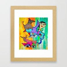 AIKIDO GIRL Framed Art Print