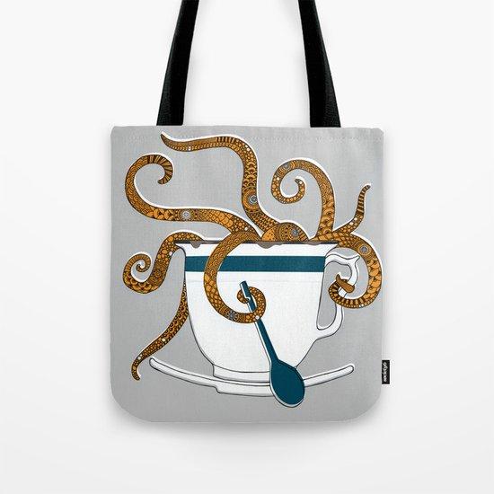 Octopus in a Teacup Tote Bag