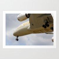 Etihad Airlines Airbus A… Art Print