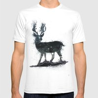 Universal Woodlands Deer Mens Fitted Tee White SMALL