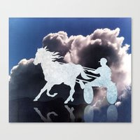 Chariots of Fire - Harness Racing Canvas Print