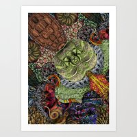 Psychedelic Botanical 10 Art Print
