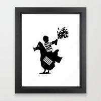 Riding Rooster  Framed Art Print
