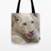 White Lion Cub - The Nex… Tote Bag