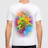 Flower Dreams Mens Fitted Tee Ash Grey SMALL