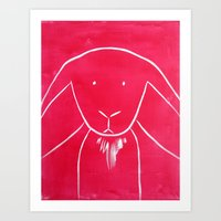 No. 005 - The Bunny (Modern Kids & Nursery Art) Art Print