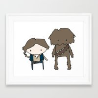 Han Solo & Chewie Framed Art Print