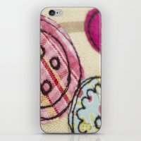 Embroidered Buttons iPhone & iPod Skin