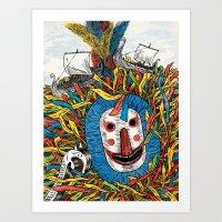 Minehead Hobby Horse Art Print