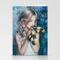 Stationery Cards featuring Whisper by Tanya Shatseva