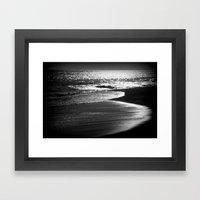 ocean in black and white  Framed Art Print