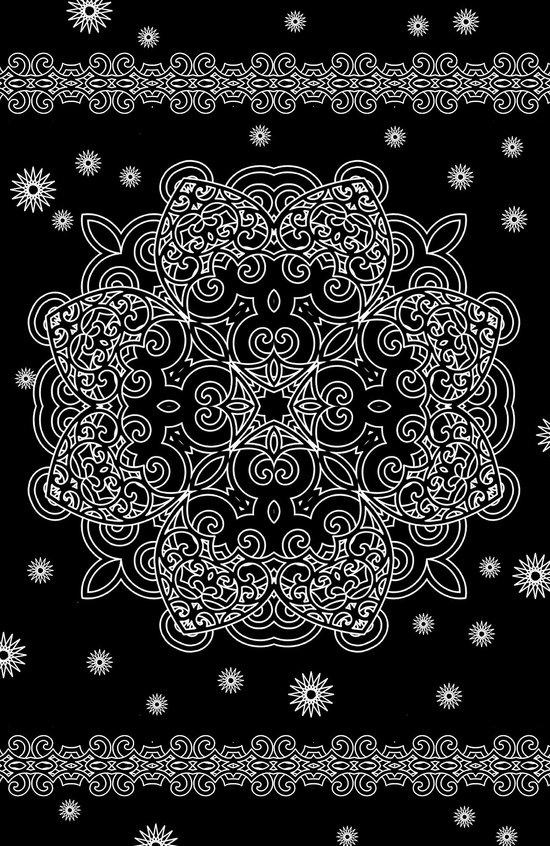 Elegant Black and White Mandala Case Art Print