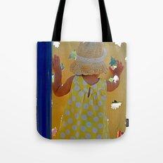 Yellow Polka Dot Dress Tote Bag