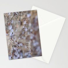 begin here. Stationery Cards