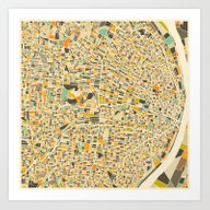 Art Print featuring St Louis Map by Jazzberry Blue