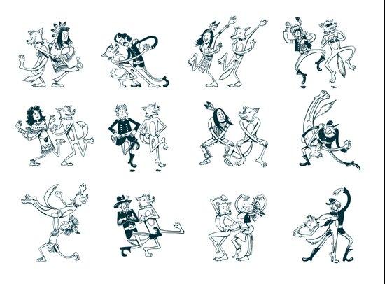 Dances with Wolves Art Print