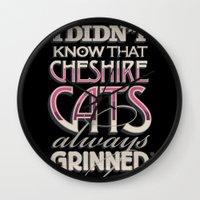 Cheshire Cats Wall Clock