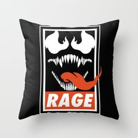 Rage. Throw Pillow