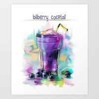bilberry cocktail Art Print
