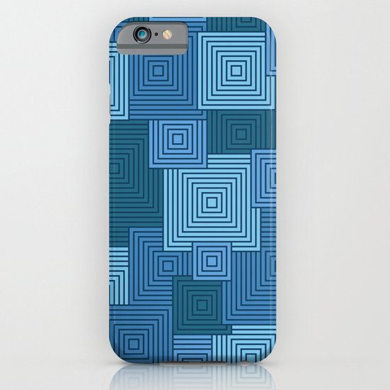 Blue Platformer iPhone & iPod Case