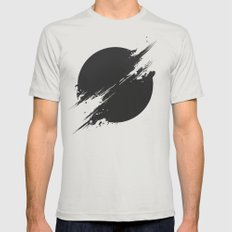 The Sun Is Black Mens Fitted Tee Silver SMALL