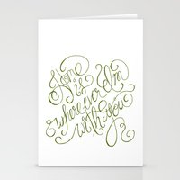 Home is wherever I'm with you.  Stationery Cards