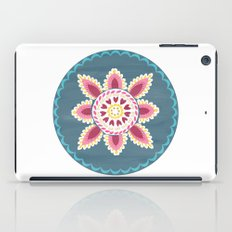 Suzani inspired floral blue 2 iPad Case