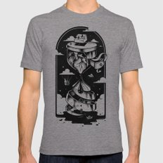Time Heals Mens Fitted Tee Tri-Grey SMALL