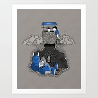 Art Print featuring Nightlights and Oven Mitts by Boots