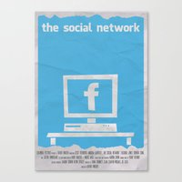 SOCIAL NETWORK Canvas Print