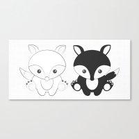 Twins Fox Canvas Print