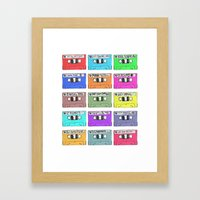 Cassettes - Mixing It Up Framed Art Print
