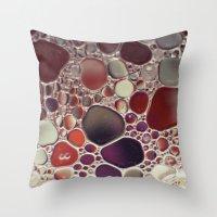 Bubble Abstract Throw Pillow