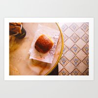 Pain au Chocolat From Above Art Print